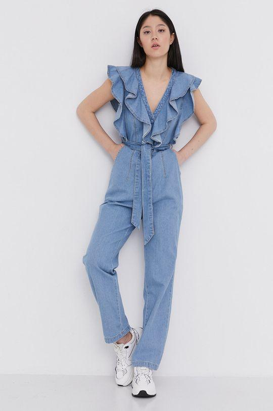 Answear Lab - Kombinezon jeansowy niebieski
