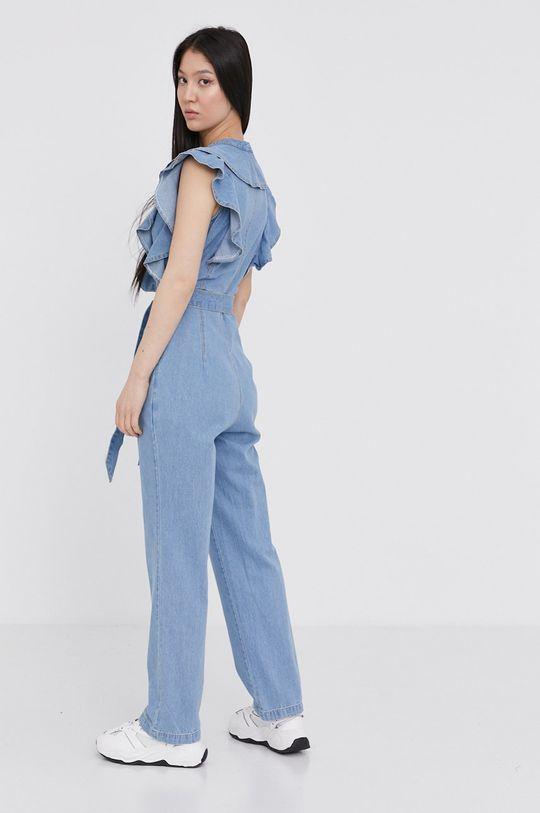 Answear Lab - Kombinezon jeansowy 90 % Bawełna, 10 % Elastan