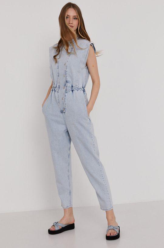 niebieski Answear Lab - Kombinezon jeansowy