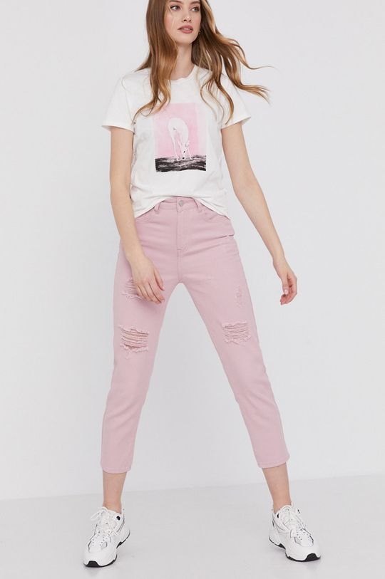 Answear Lab - Nohavice ružovo-červená