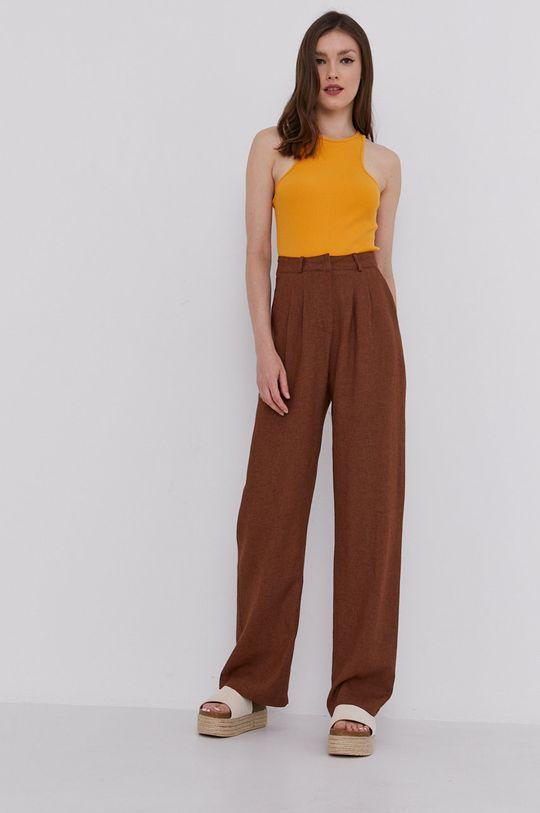 Answear Lab - Spodnie brązowy