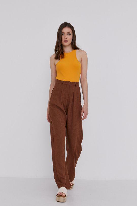 brązowy Answear Lab - Spodnie