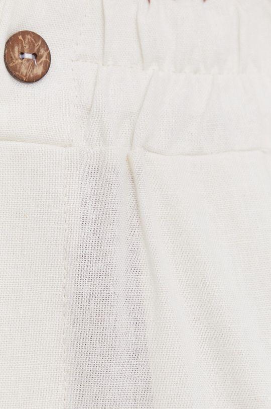 smetanová Answear Lab - Plátěné kalhoty Pure Linen
