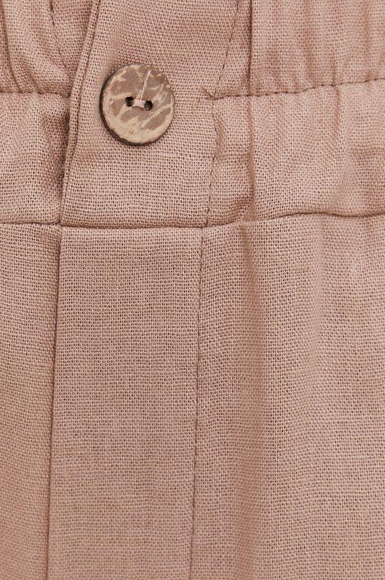 beżowy Answear Lab - Spodnie lniane Pure Linen