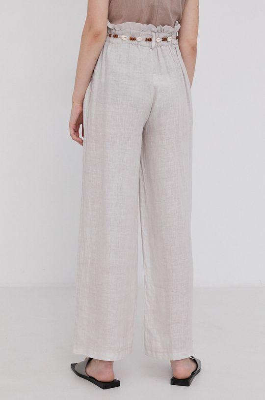Answear Lab - Plátěné kalhoty Pure Linen  100% Len