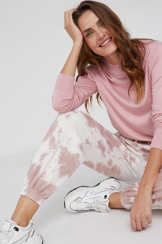 różowy Answear Lab - Spodnie Damski