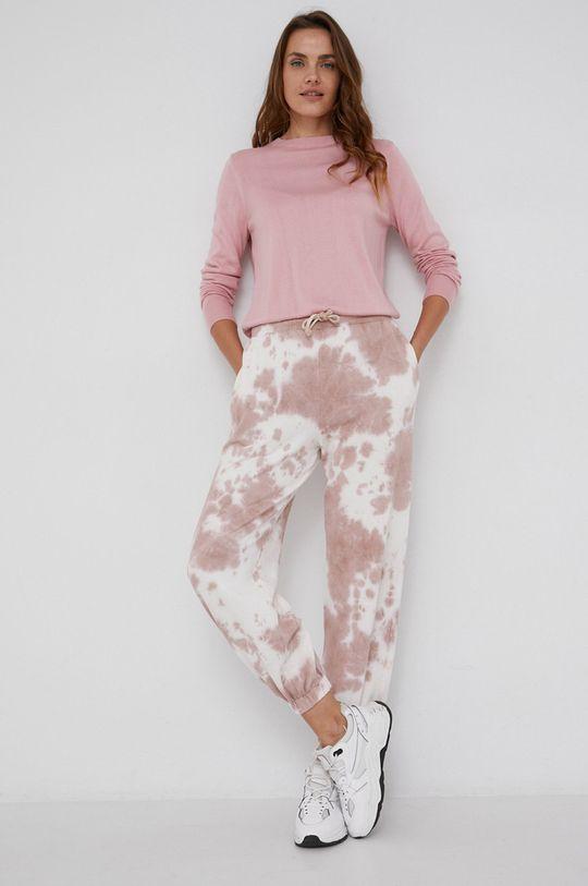 różowy Answear Lab - Spodnie