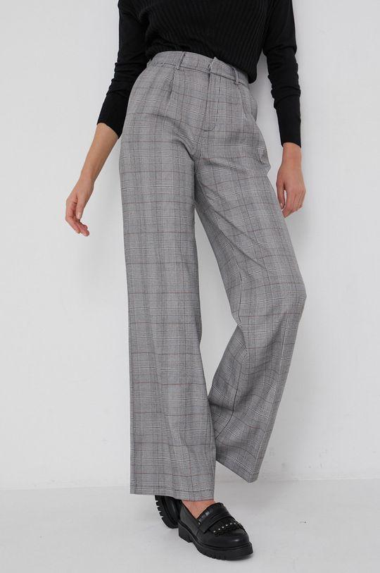 szary Answear Lab - Spodnie z domieszką wełny Damski