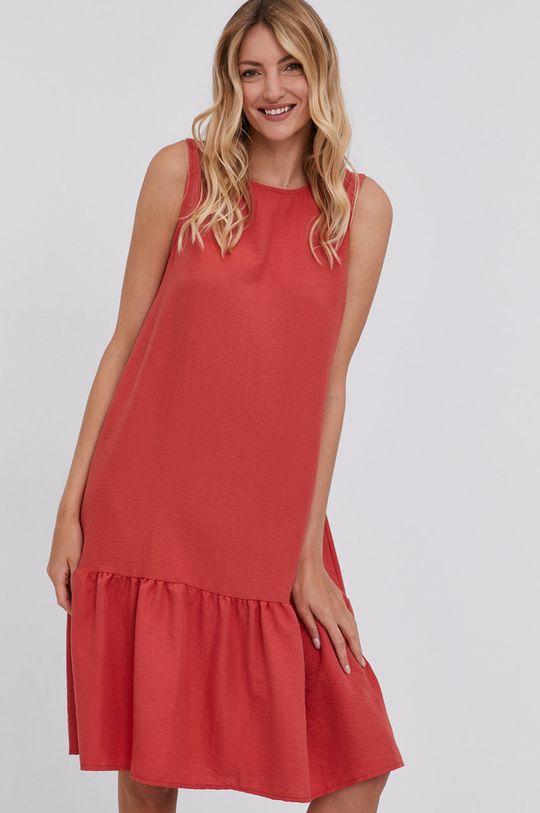červená Answear Lab - Šaty