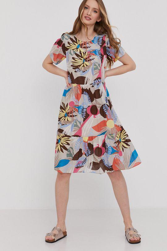 Answear Lab - Sukienka beżowy