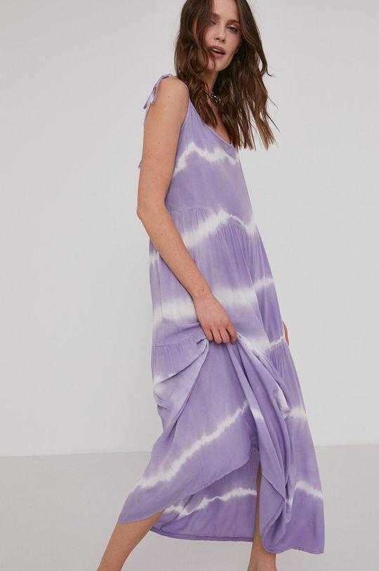 lawendowy Answear Lab - Sukienka Damski