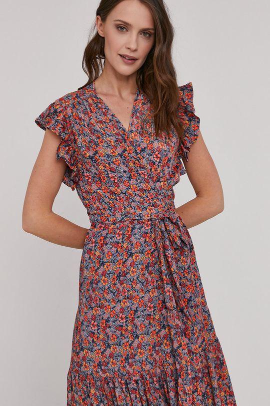 mandarínková Answear Lab - Šaty