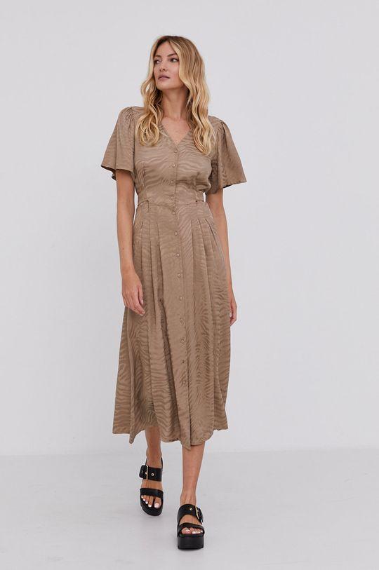 Answear Lab - Šaty béžová