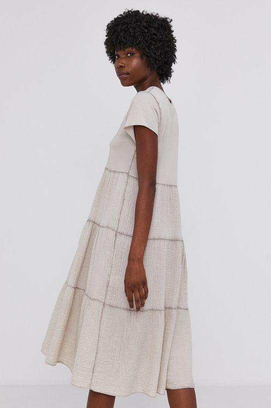 Answear Lab - Bavlněné šaty Garment Dyed  100% Bavlna