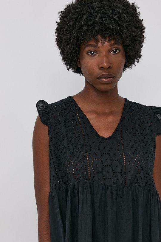 černá Answear Lab - Bavlněné šaty