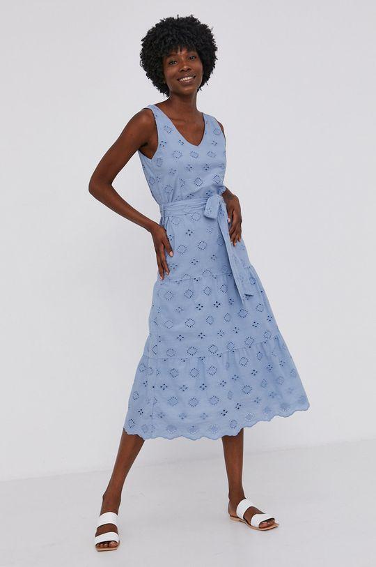 Answear Lab - Bavlněné šaty modrá