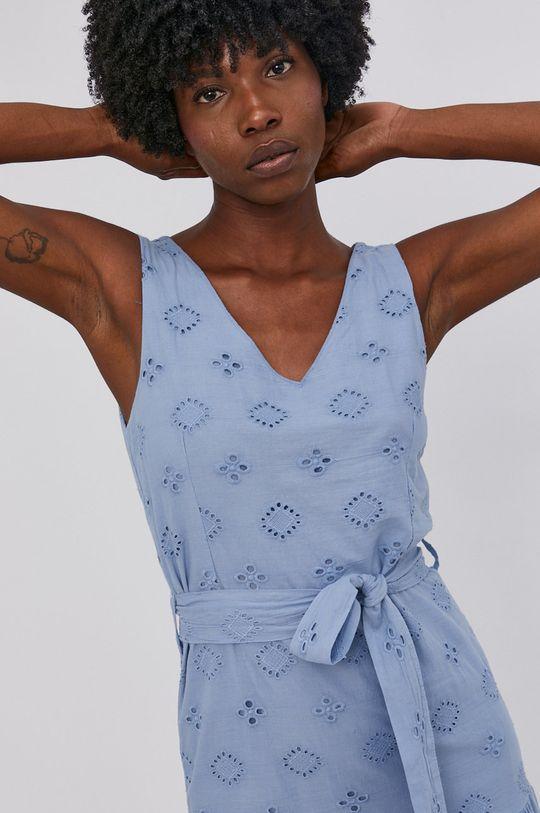 modrá Answear Lab - Bavlněné šaty
