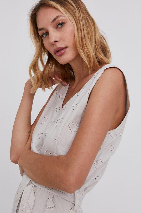 béžová Answear Lab - Bavlněné šaty