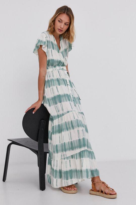 zelená Answear Lab - Šaty Tencel Hand Crafted Dámský