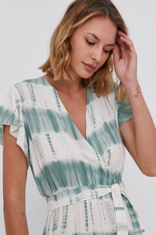 zelená Answear Lab - Šaty Tencel Hand Crafted