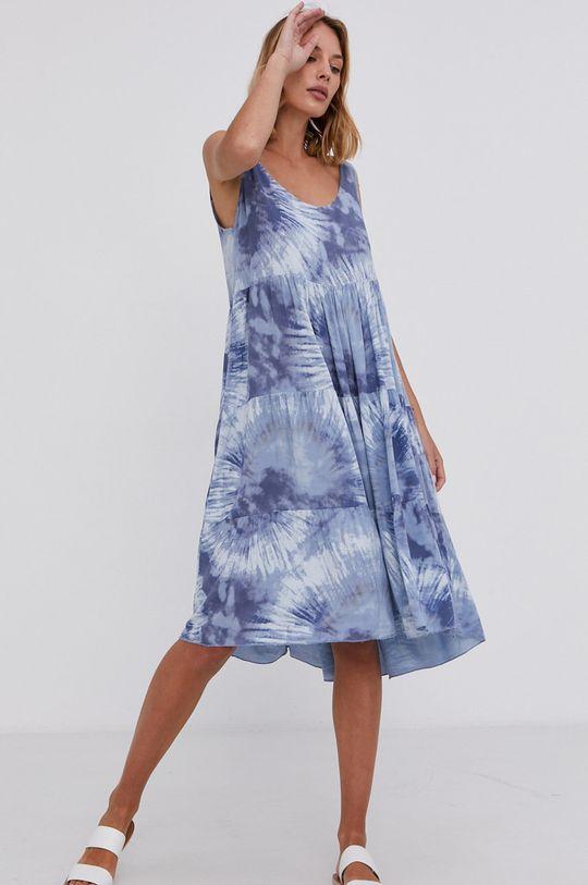 modrá Answear Lab - Šaty Hand Crafted Dámský