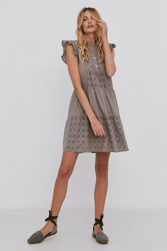 Answear Lab - Bavlněné šaty khaki