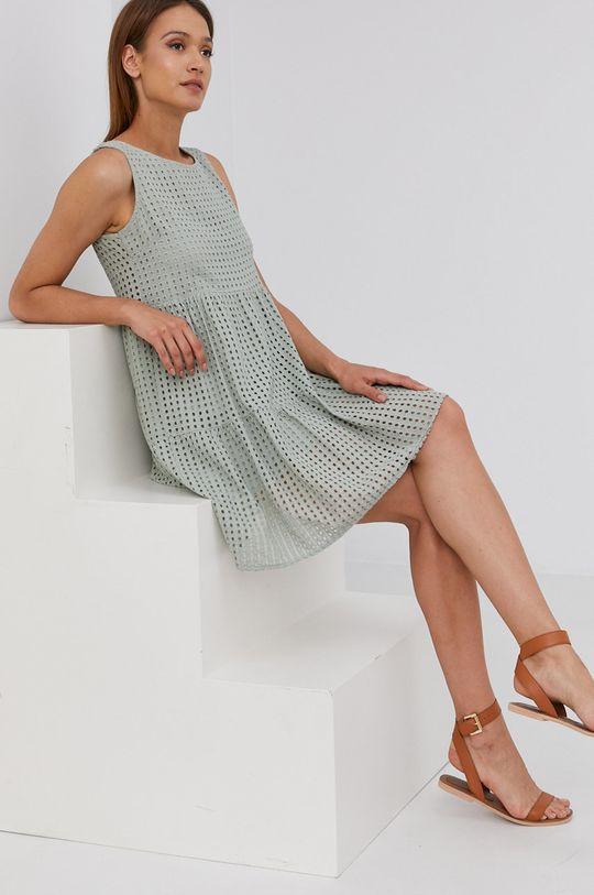 zielony Answear Lab - Sukienka bawełniana Damski