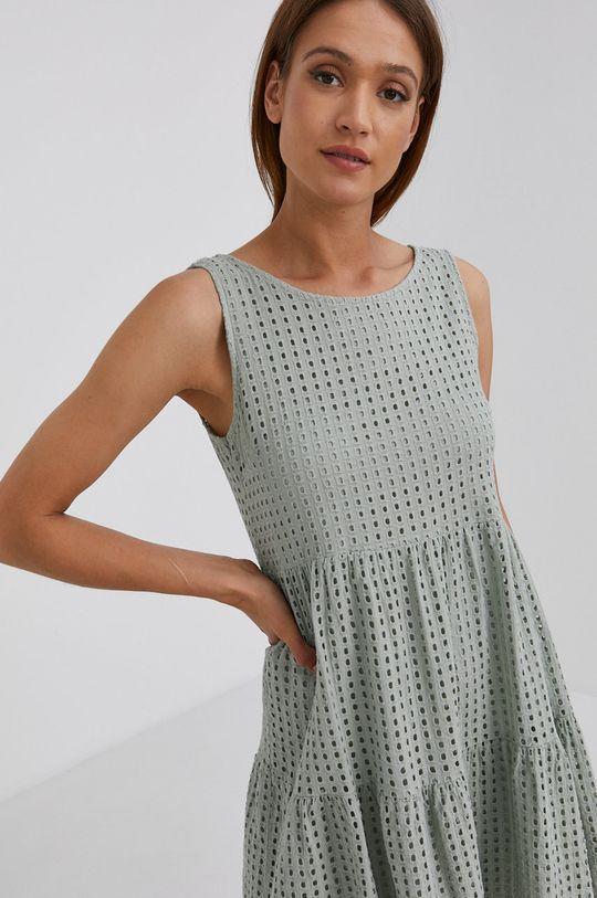 zielony Answear Lab - Sukienka bawełniana
