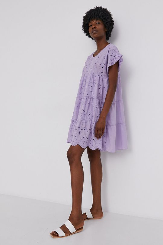 levandulová Answear Lab - Bavlněné šaty Dámský