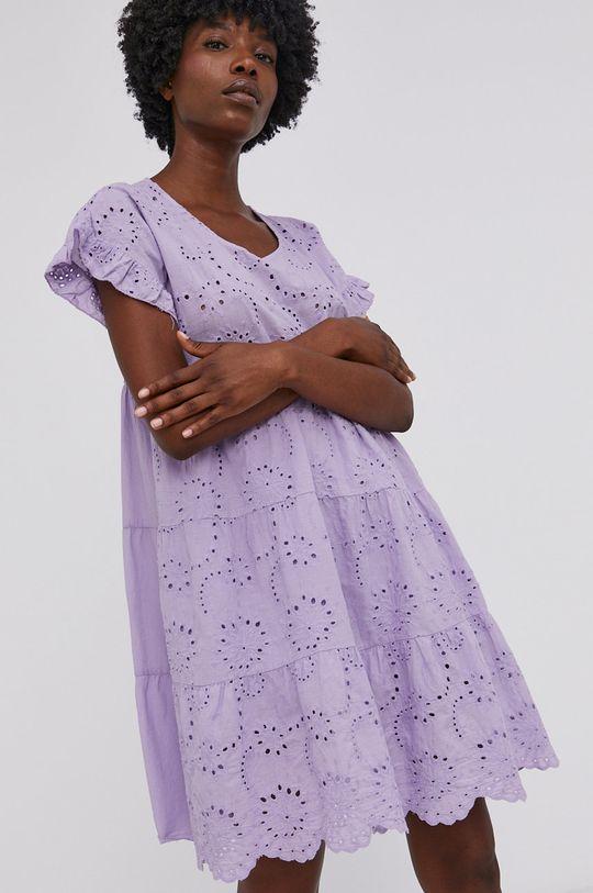 Answear Lab - Bavlněné šaty levandulová