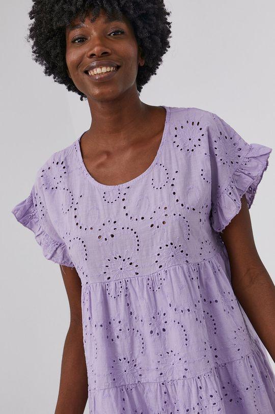 levandulová Answear Lab - Bavlněné šaty