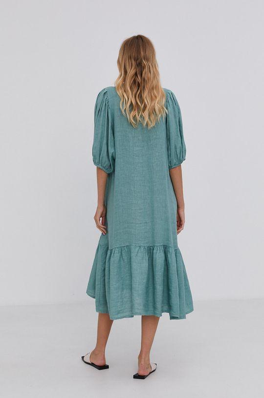 Answear Lab - Plátěné šaty Pure Linen mátová