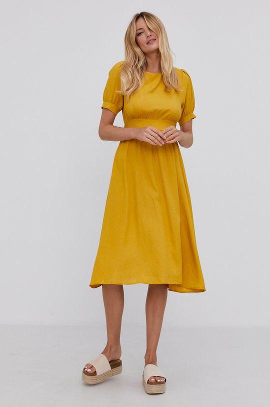 Answear Lab - Sukienka żółty