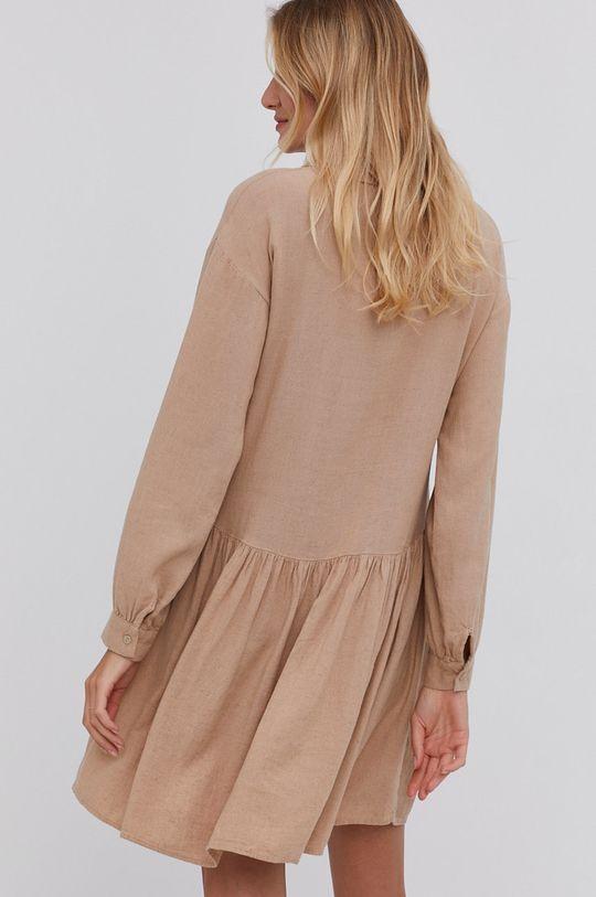 Answear Lab - Sukienka 100 % Len