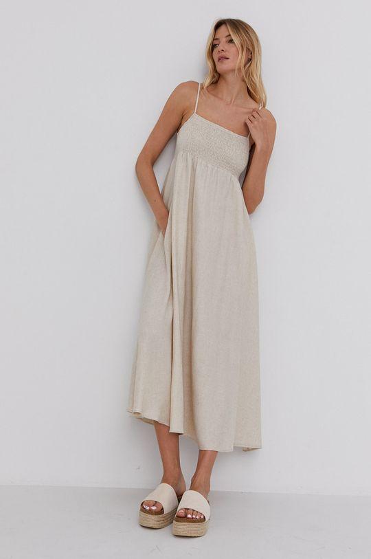 Answear Lab - Sukienka 50 % Len, 50 % Wiskoza