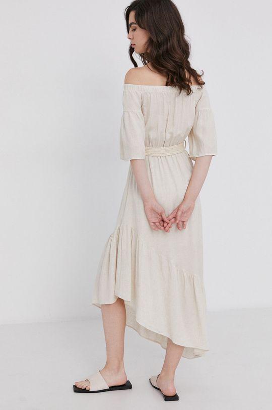 Answear Lab - Sukienka 40 % Len, 60 % Wiskoza