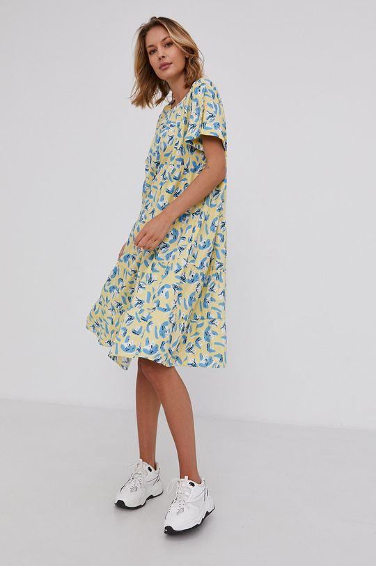 Answear Lab - Bavlněné šaty žlutá