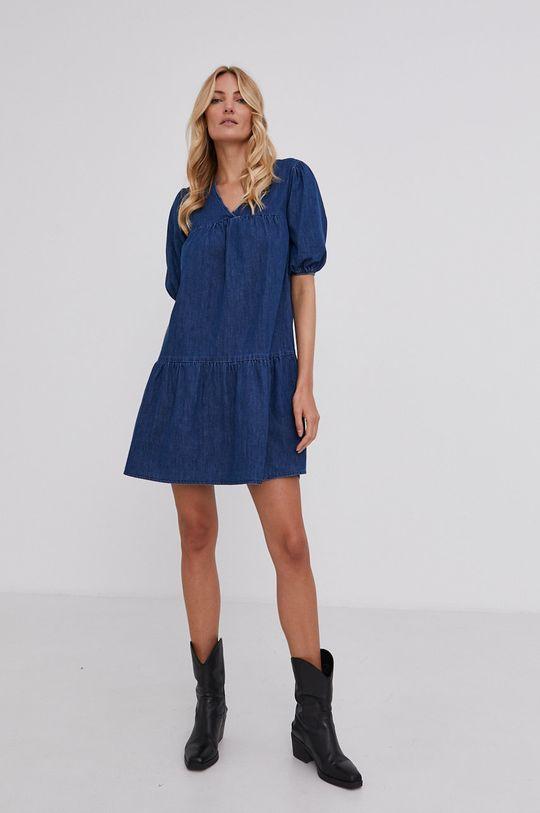 granatowy Answear Lab - Sukienka jeansowa Damski