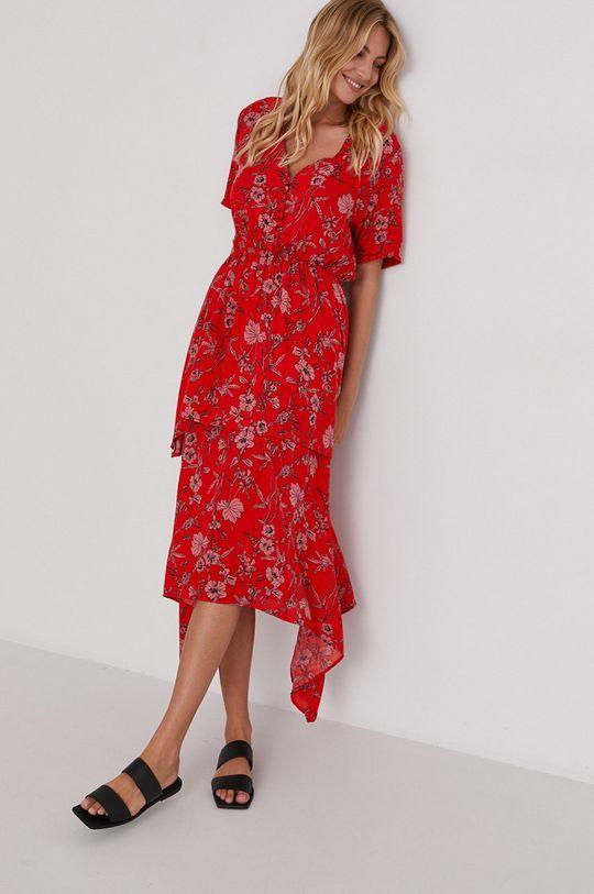 červená Answear Lab - Šaty Dámský