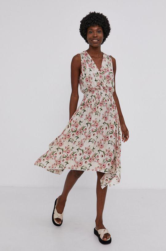 Answear Lab - Šaty pastelově růžová