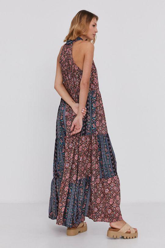 Answear Lab - Hedvábné šaty Silk Blend růžová