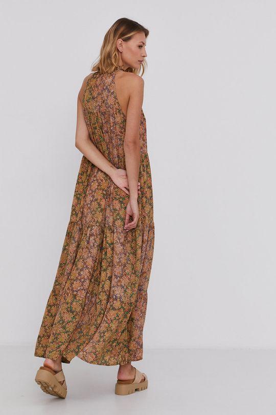 Answear Lab - Hedvábné šaty Silk Blend žlutá