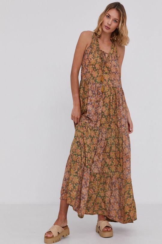 Answear Lab - Hedvábné šaty Silk Blend  70% Hedvábí, 30% Polyester