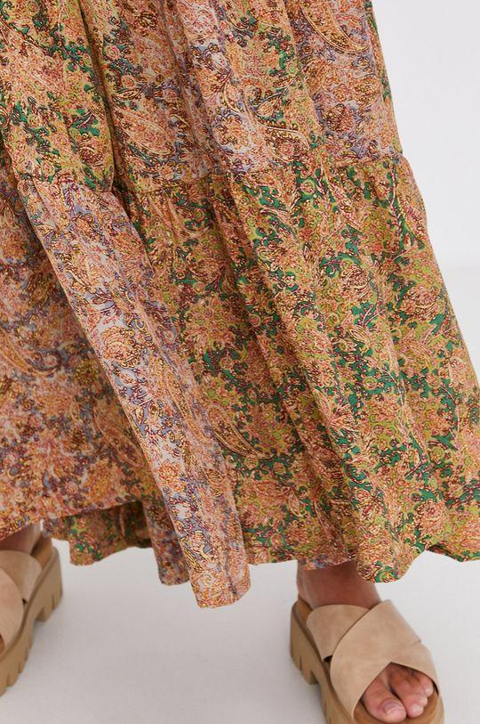 Answear Lab - Hedvábné šaty Silk Blend Dámský