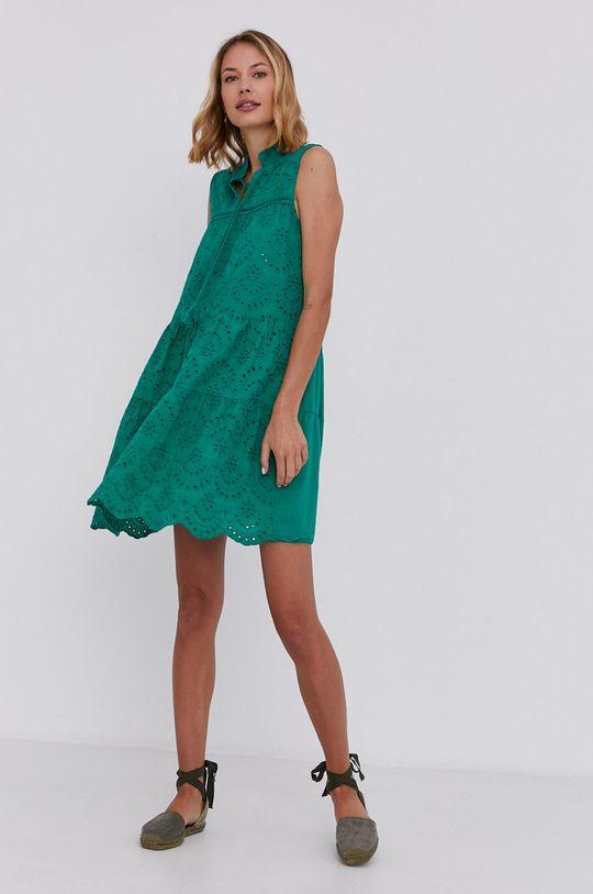 Answear Lab - Bavlněné šaty zelená