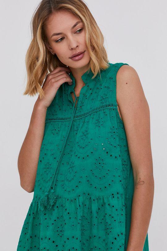 zelená Answear Lab - Bavlněné šaty