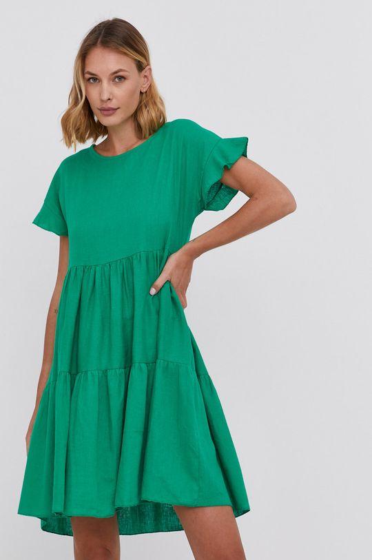 zelená Answear Lab - Šaty Dámský