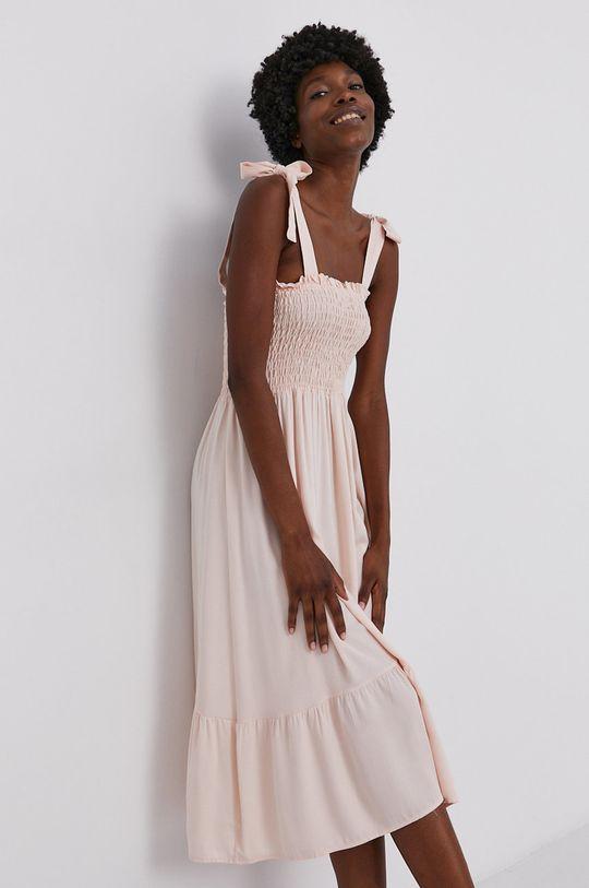 pastelově růžová Answear Lab - Šaty Dámský