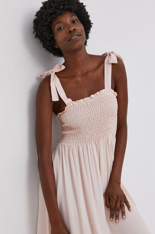 pastelově růžová Answear Lab - Šaty