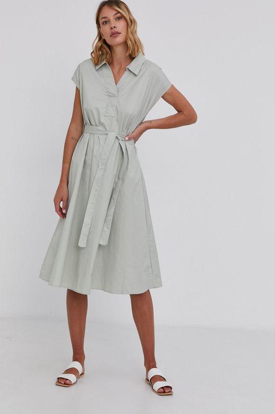 mátová Answear Lab - Bavlněné šaty Dámský